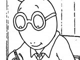 Writing Arthur Coloring Page