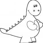 Y Dinosaur Coloring Page