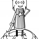 A Newly Improved Cartoon Wizard Coloring Page