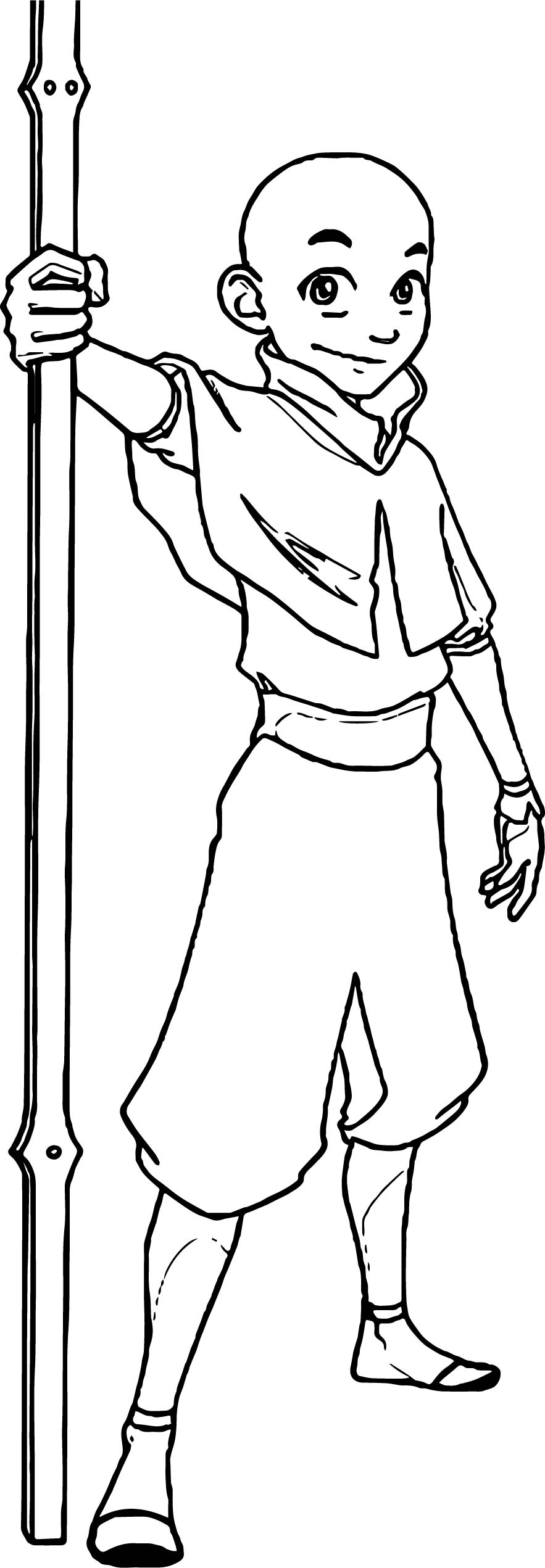 Aang Avatar Aang Coloring Pages | Wecoloringpage.com