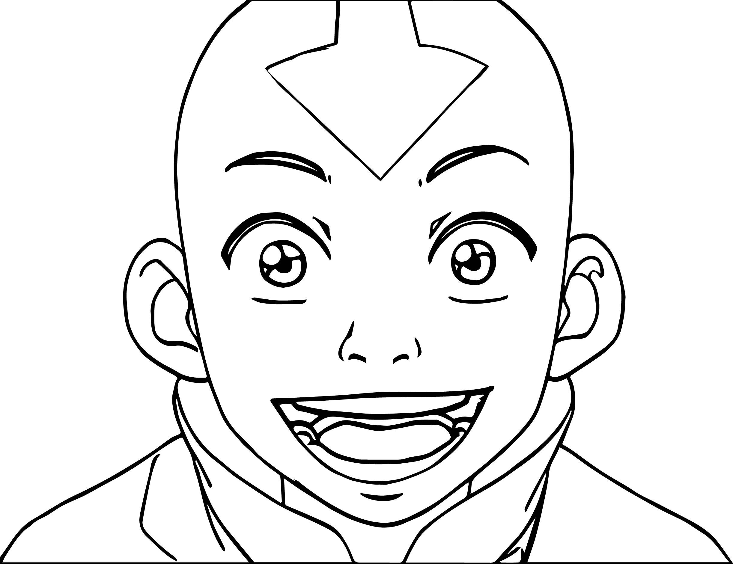 Aang Avatar Aang Face Coloring Page
