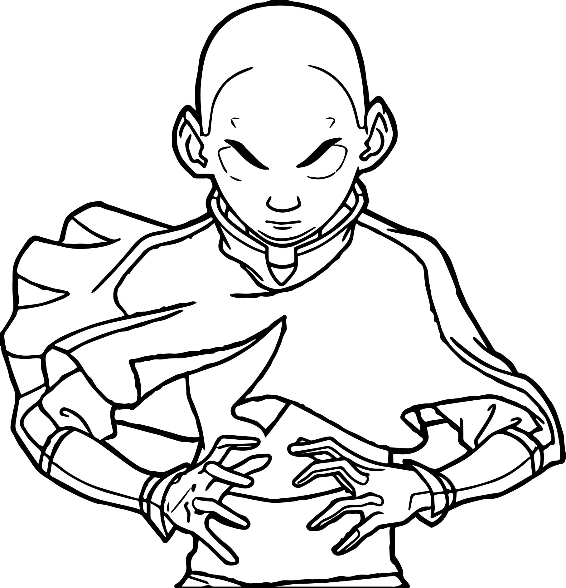 Aang Avatar Power Coloring Page