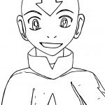 Aang Avatar The Last Airbender Coloring Page