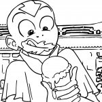 Aang Eating Ice Cream Avatar The Last Airbender Avatar Aang Coloring Page