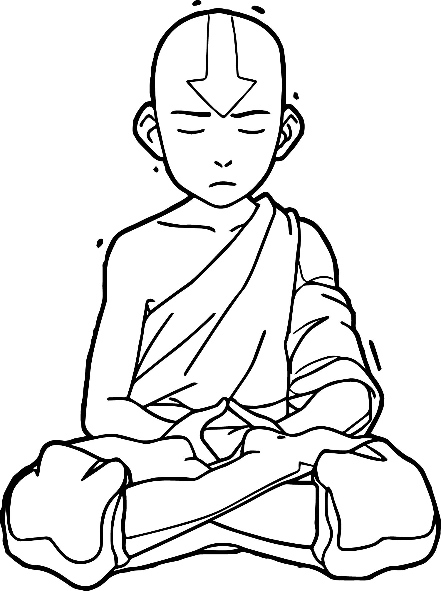 Aang El Avatar Avatar Aang Coloring Page