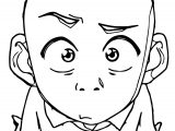 Aang Is Confused Emberose Avatar Aang Coloring Page