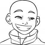 Aang Smile Avatar Aang Coloring Page
