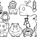 All Baby Farm Animal Coloring Page