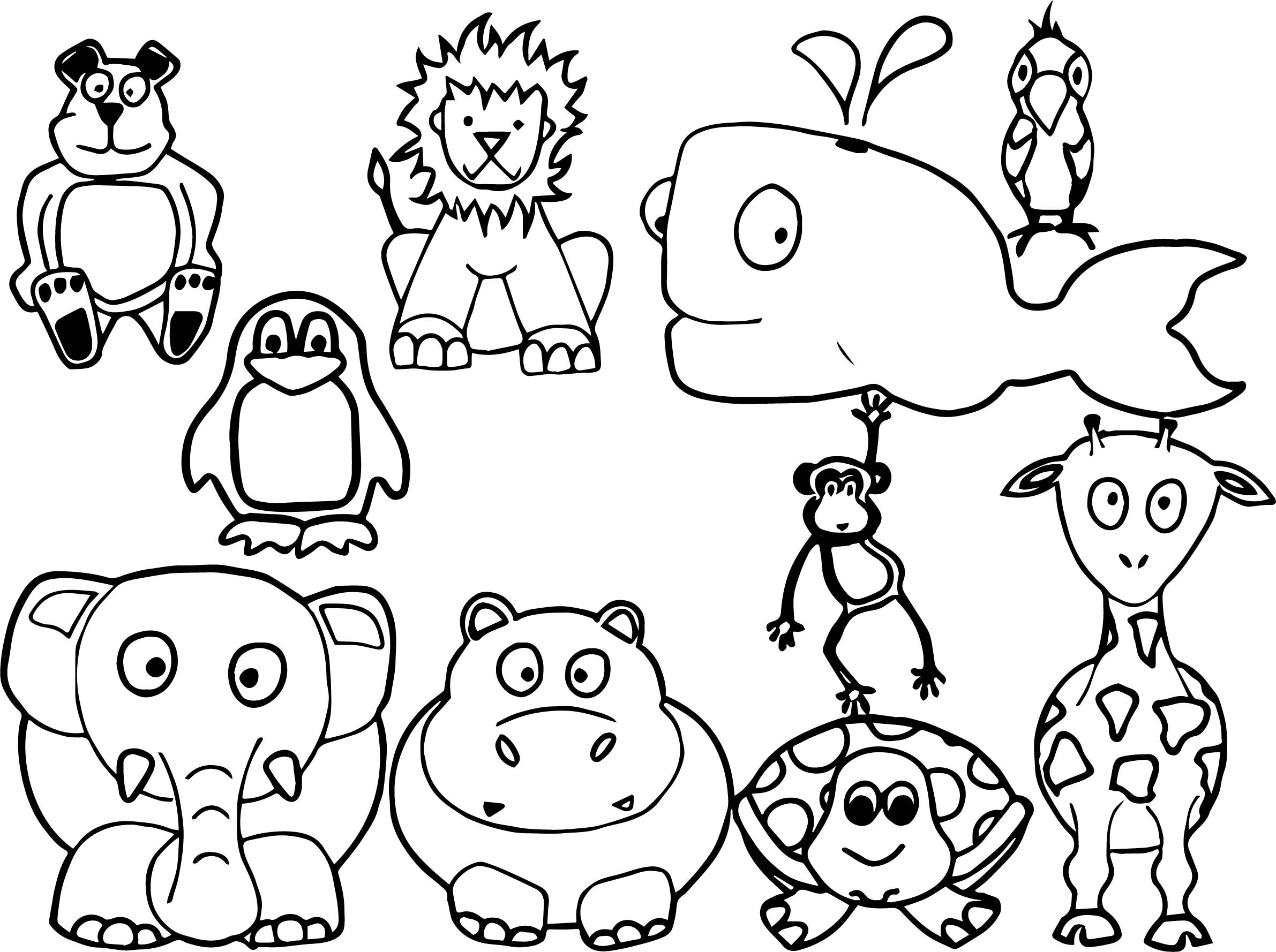 All baby farm animal coloring page for Animals coloring page