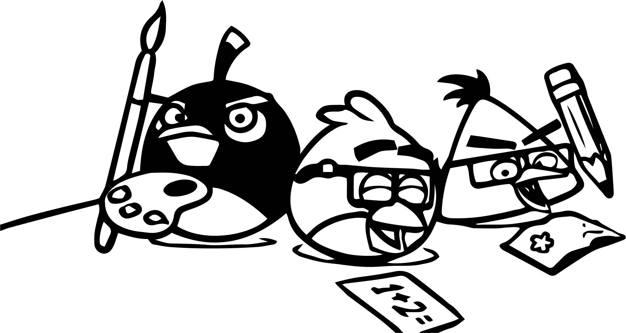 Angry Birds Wiki Coloring Page