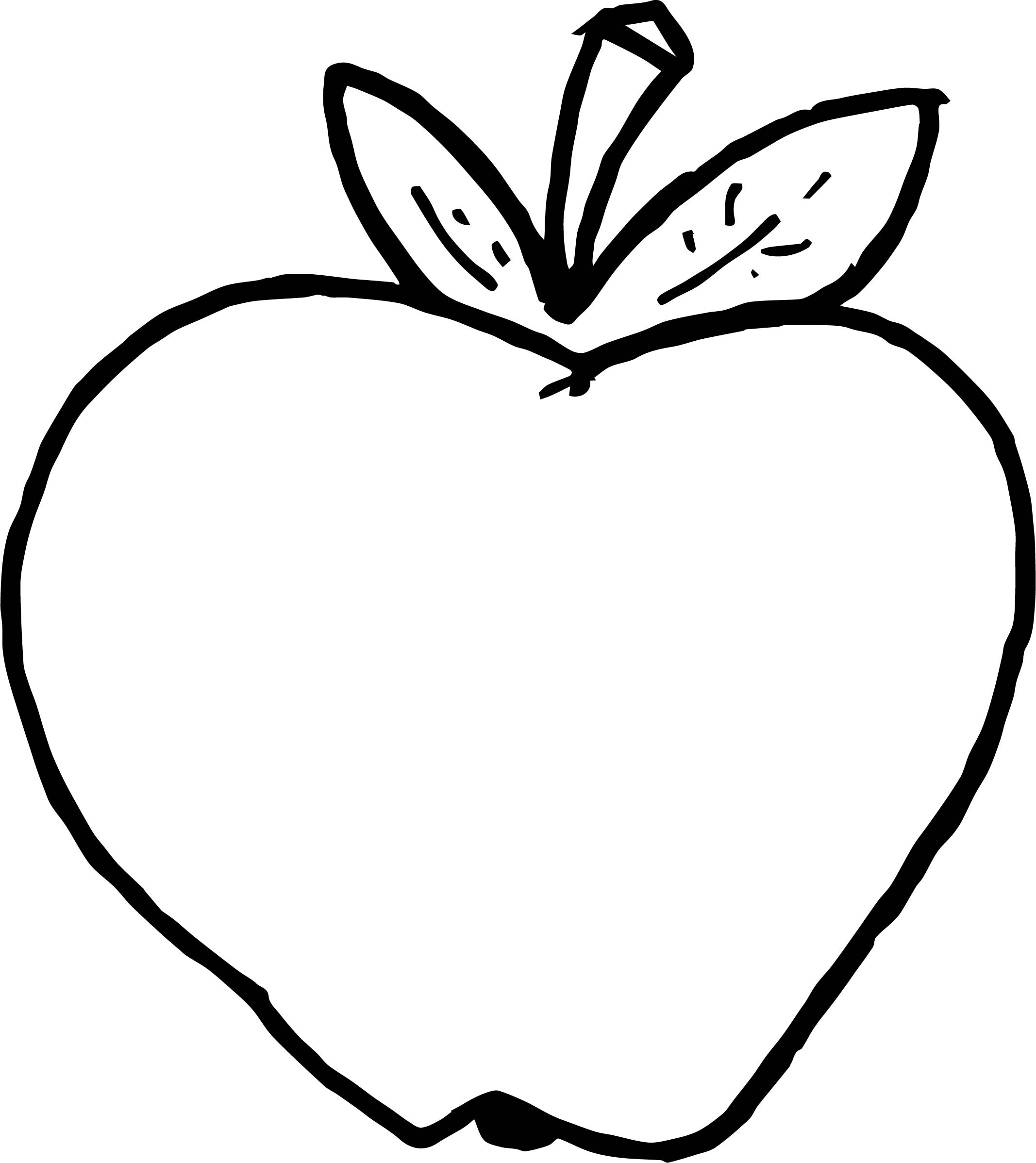 Apple Computer Coloring Pages : Apple image free food coloring page wecoloringpage