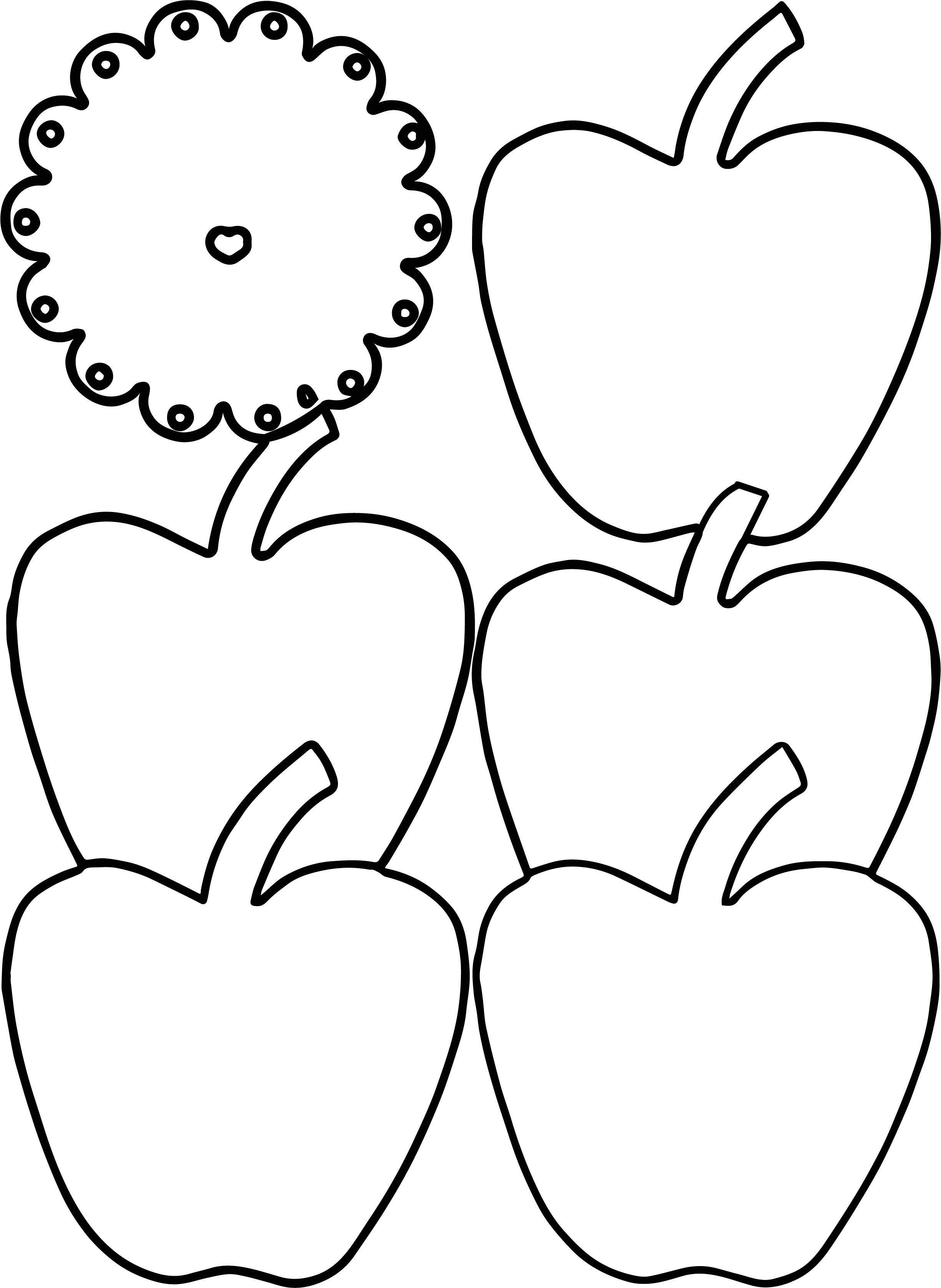 Apple In Shades Coloring Page