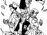 Archie Comics Autumn Coloring Page