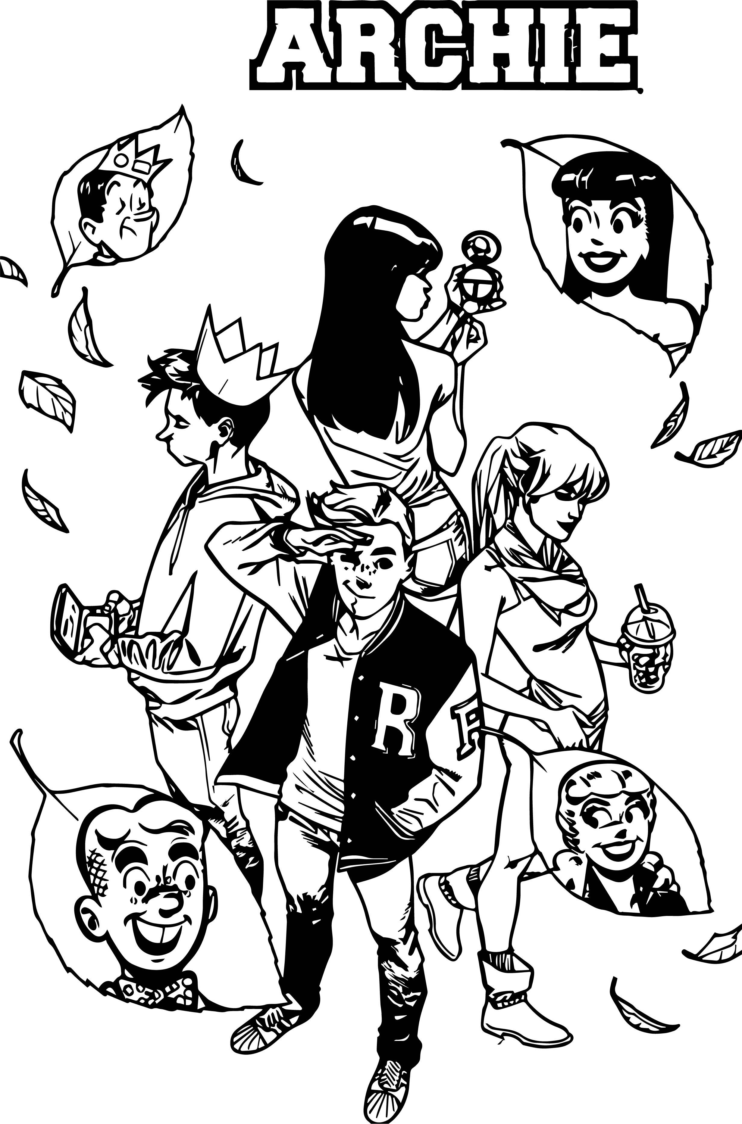 Archie Comics Autumn Coloring Page
