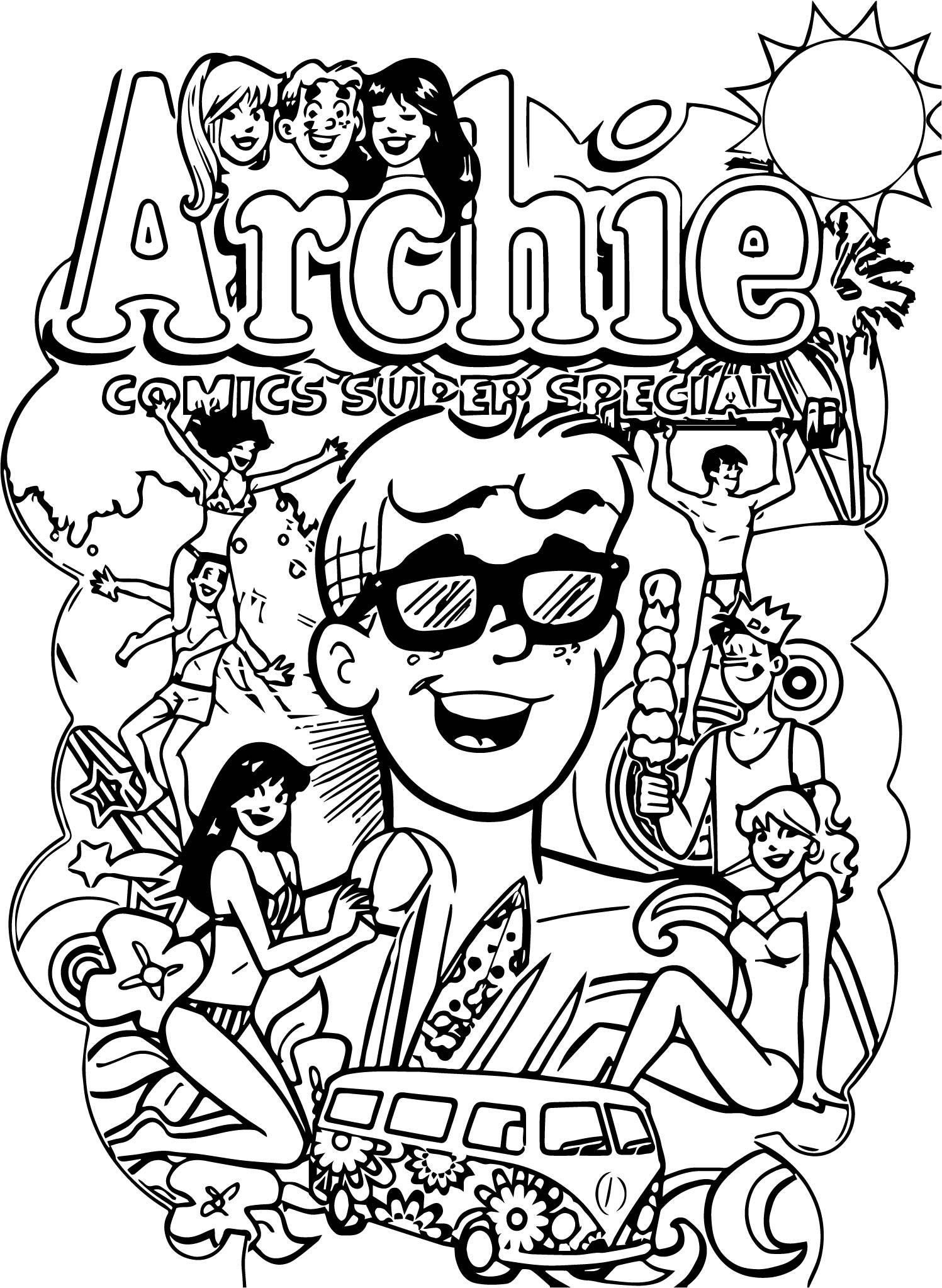 Archie Comics Hippie Coloring Page