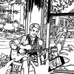 Archie Comics Take Photo Guitar Man Girl Coloring Page