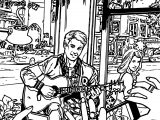 Archie Comics Take Photo Guitar Man Girl Coloring Page