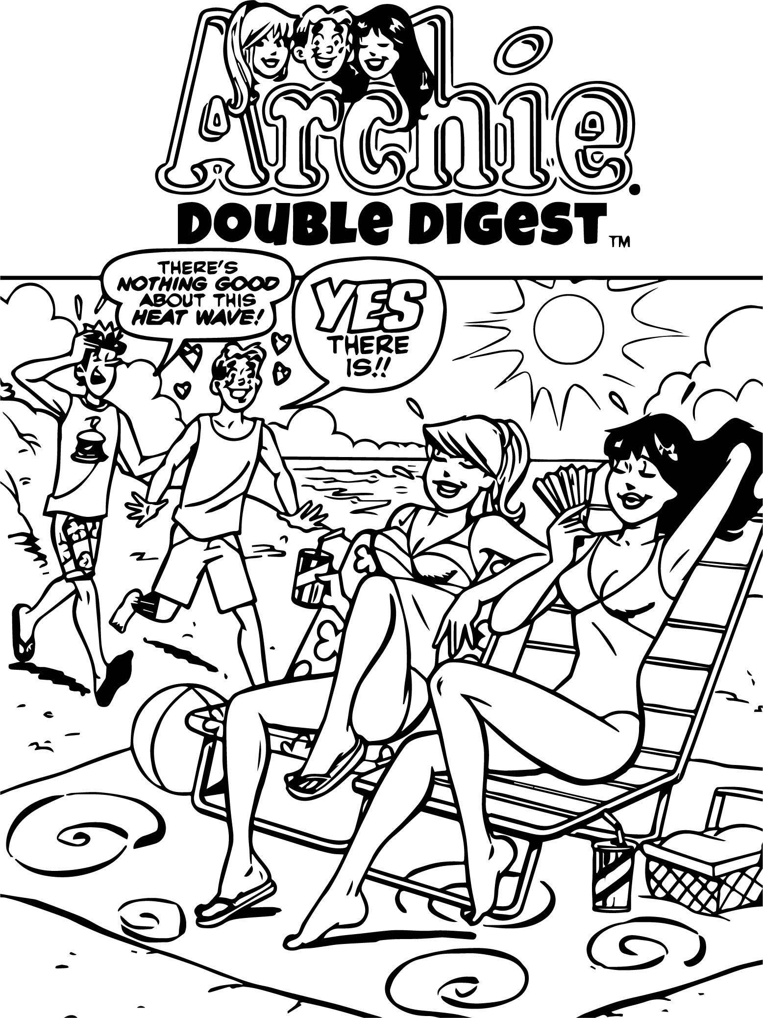 Archie Comics Yes Coloring Page