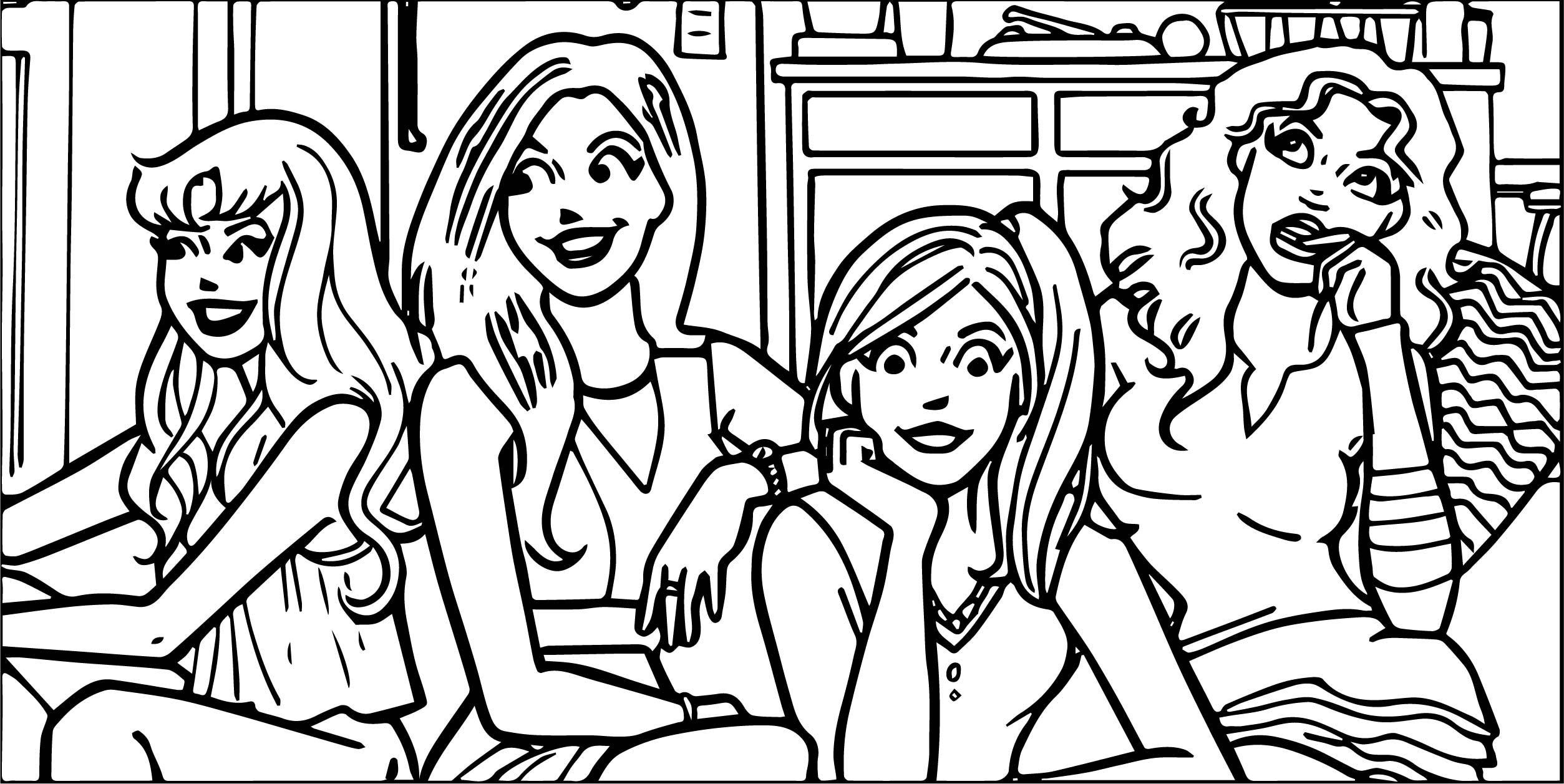 Archie Girls Coloring Page