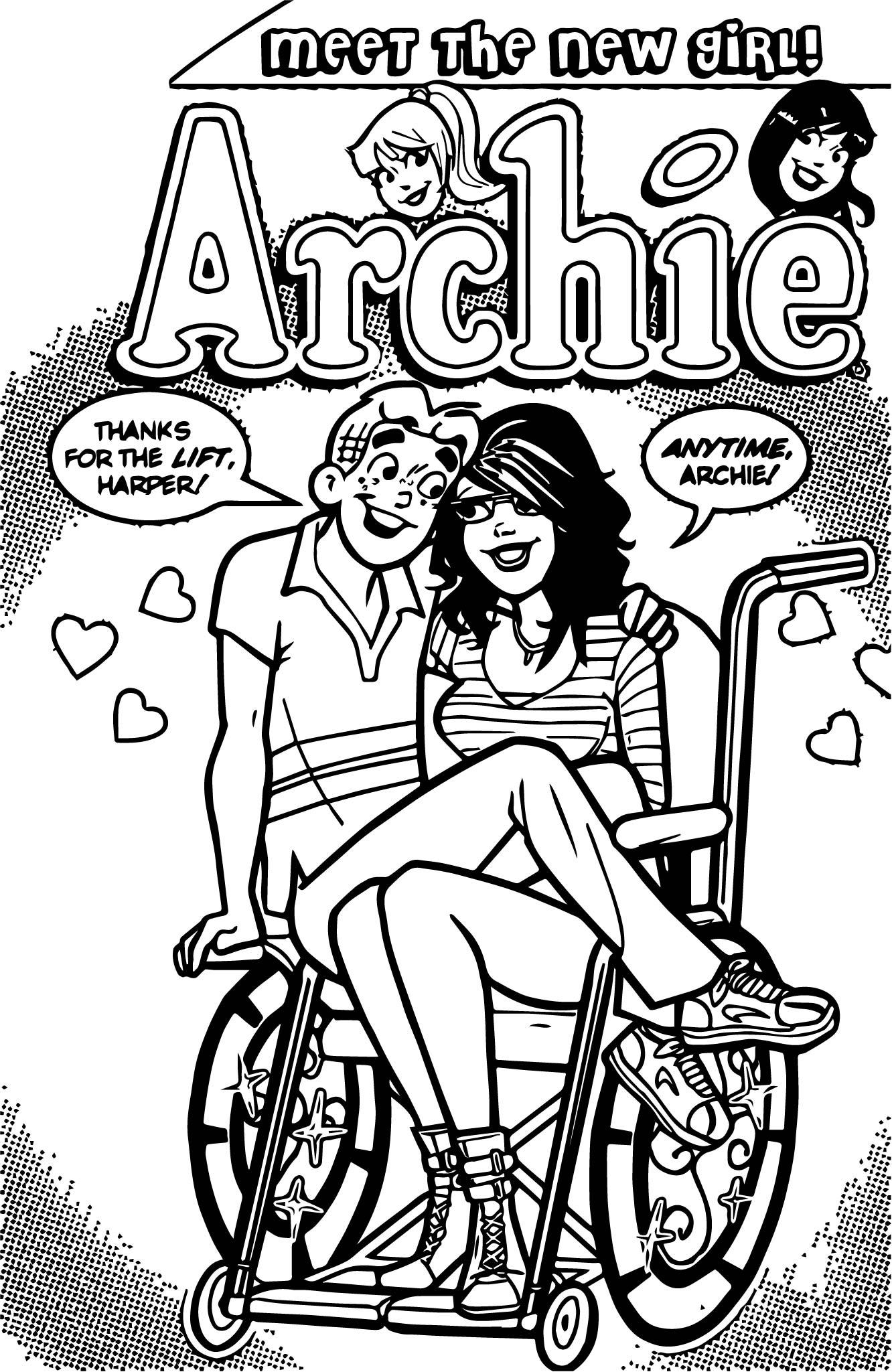 Archie Harper Comics Coloring Page