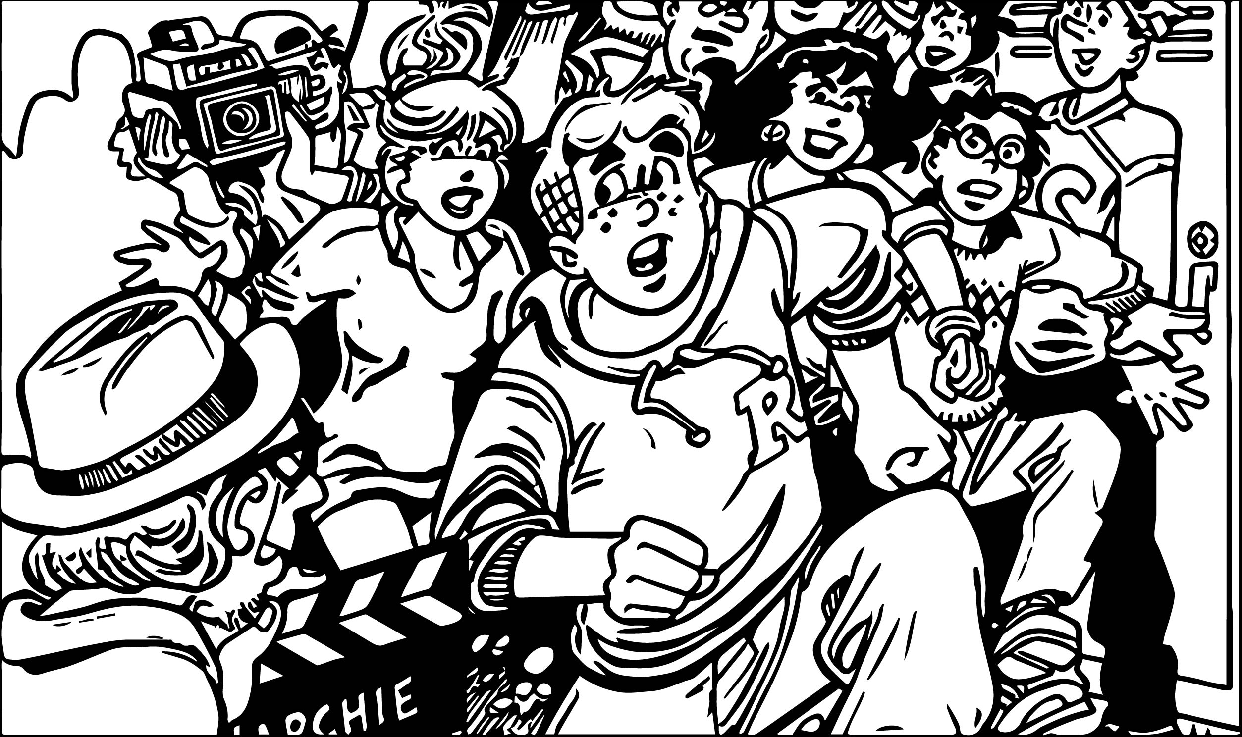 Archie Movie Run Coloring Page
