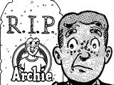Archie RIP Coloring Page