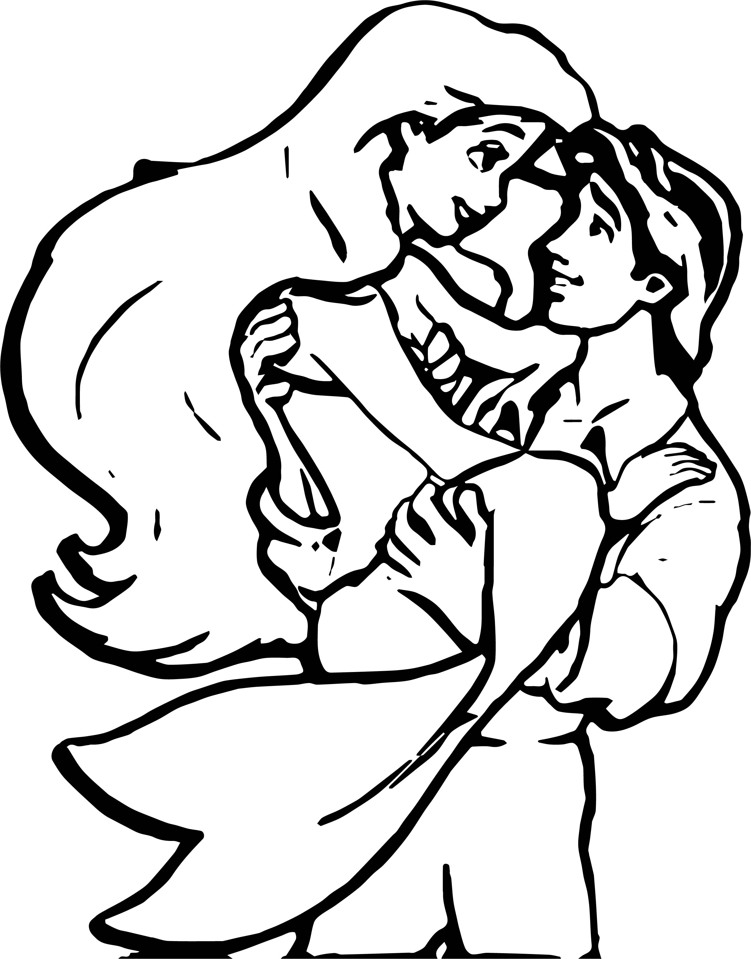 Coloring pages for boyfriend - Ariel Mermaid And Boyfriend Coloring Page