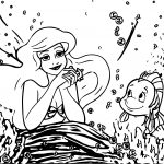 Ariel Mermaid Dream Coloring Page