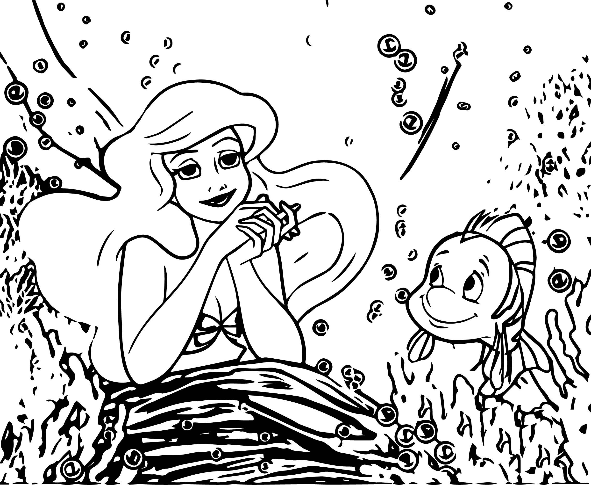 Ariel Mermaid Dream Coloring Page