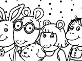 Arthur And Friends Head Coloring Page