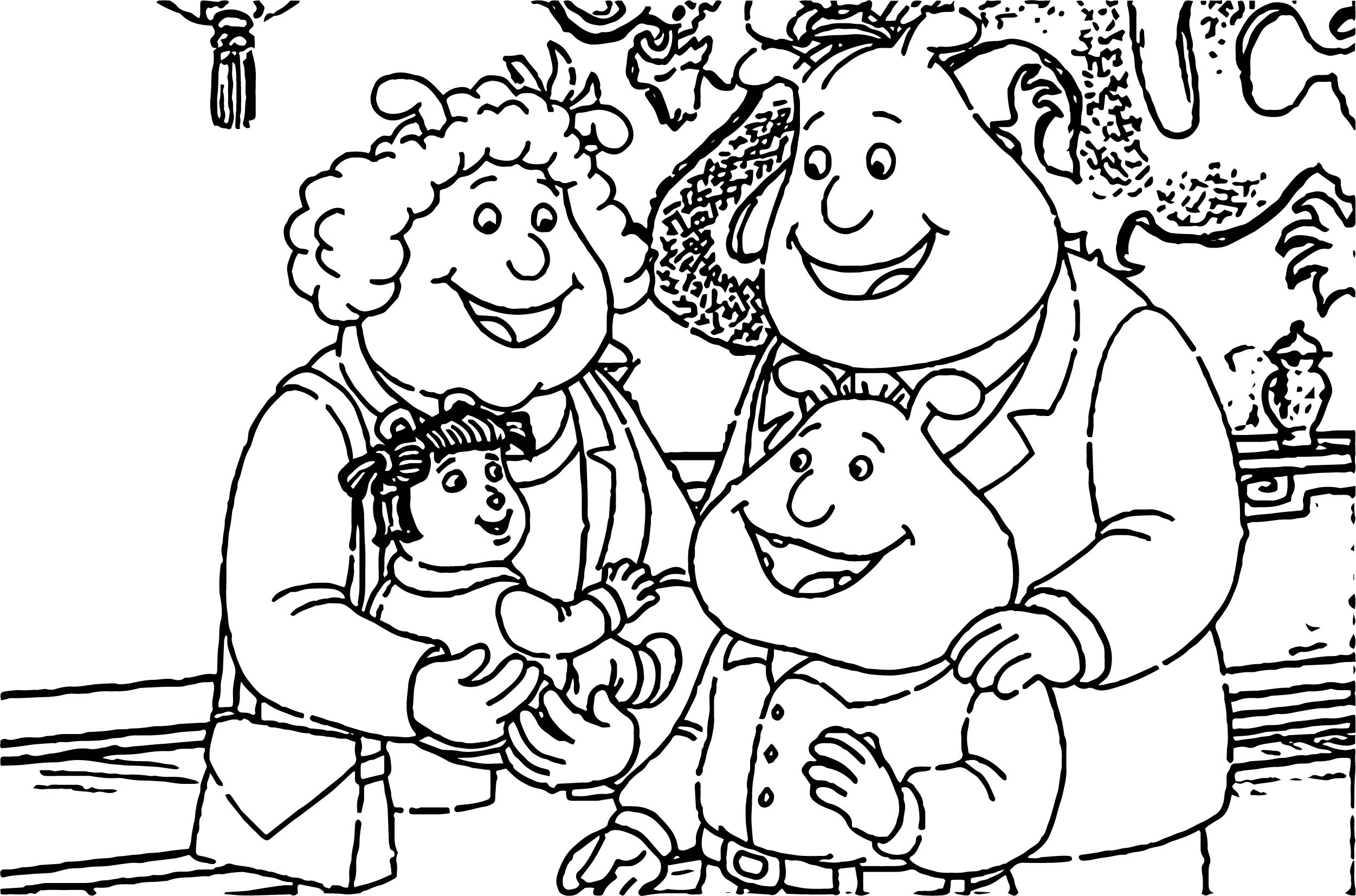 Arthur Binky Barners Family Coloring Page