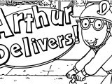Arthur Delivers Coloring Page