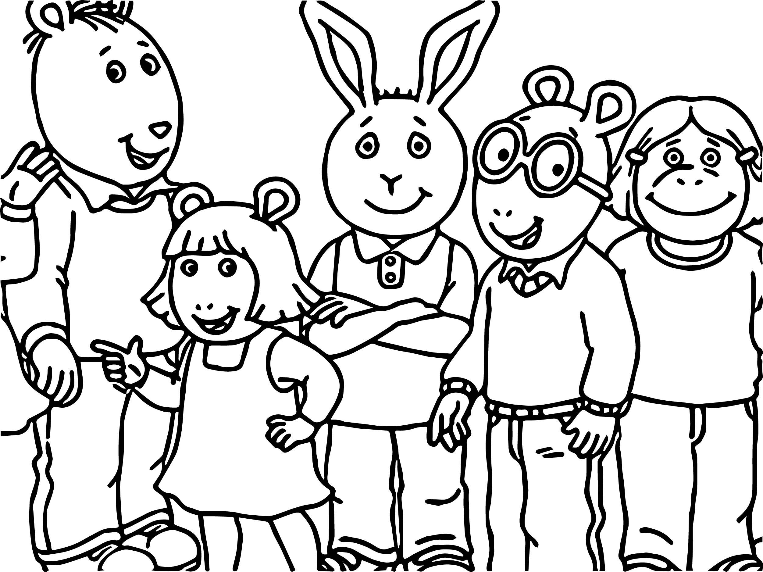 Arthur Family Friends Coloring
