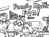 Arthur Family History Fun Coloring Page