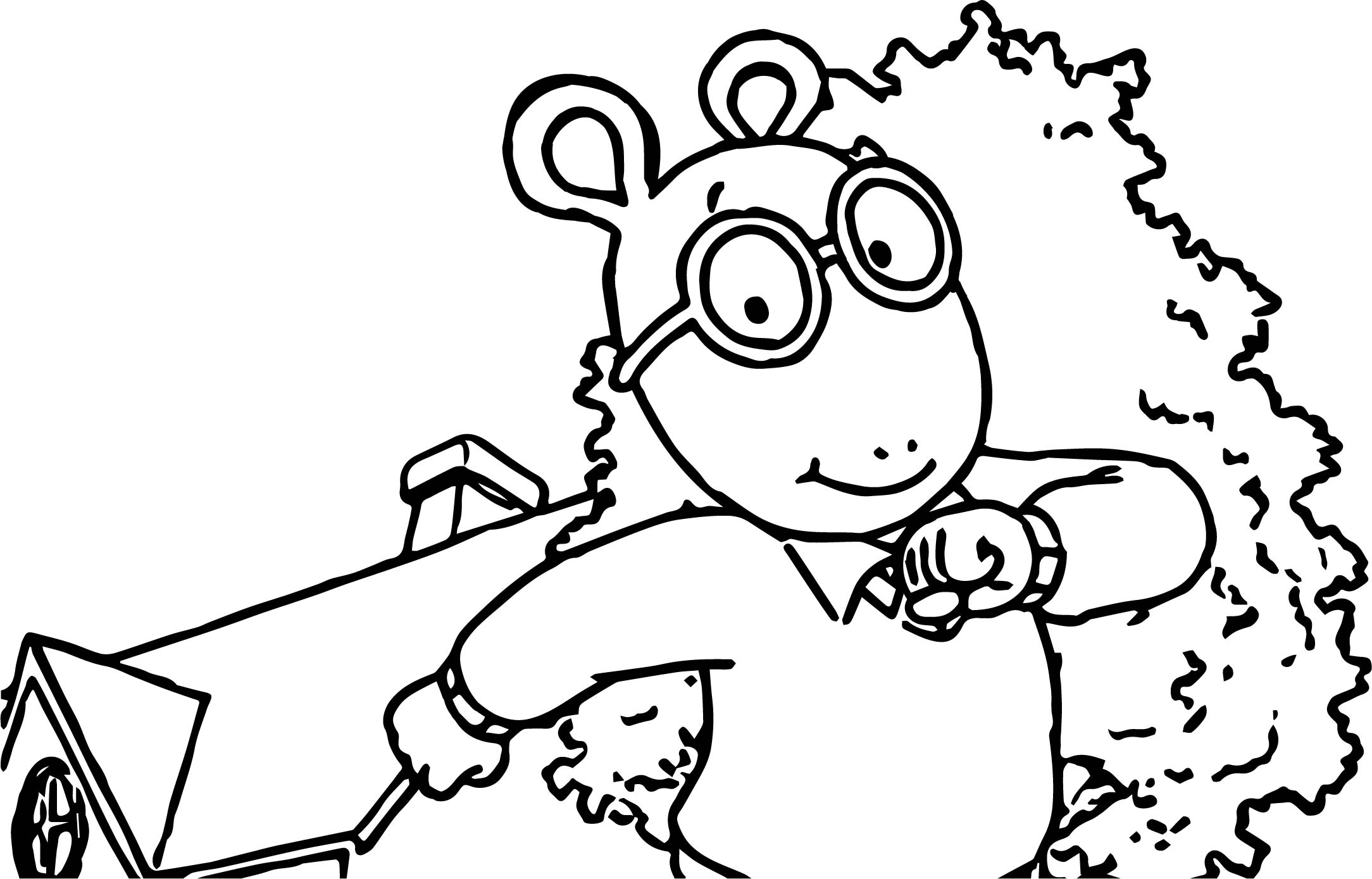 Arthur Fine Day Coloring Page