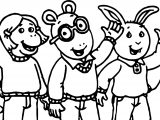 Arthur Friends Hello Coloring Page