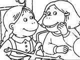 Arthur Girls Talking Coloring Page