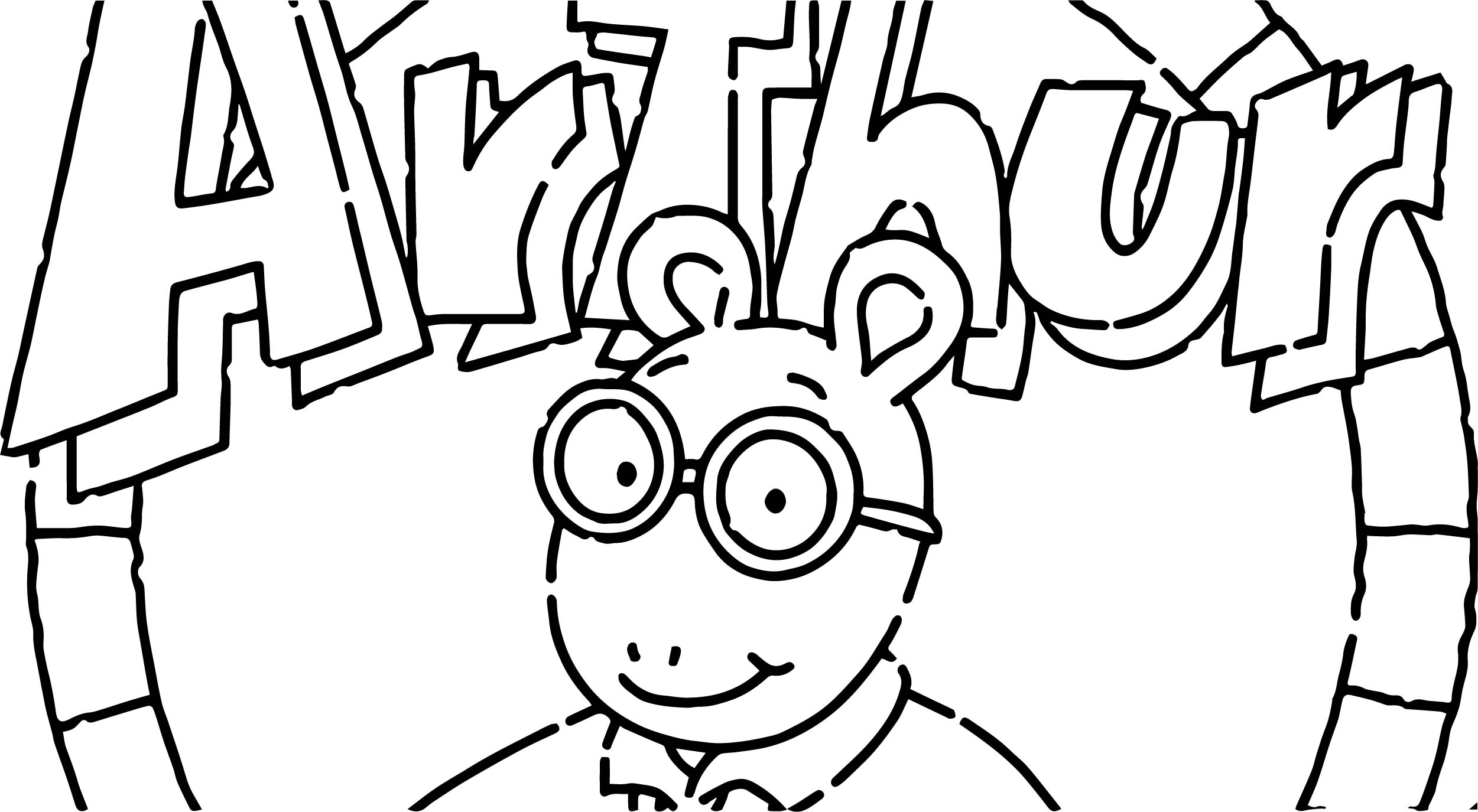 arthur logo lead coloring page