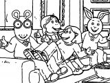 Arthur Movie Time Coloring Page