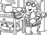 Arthur Snow Home Coloring Page