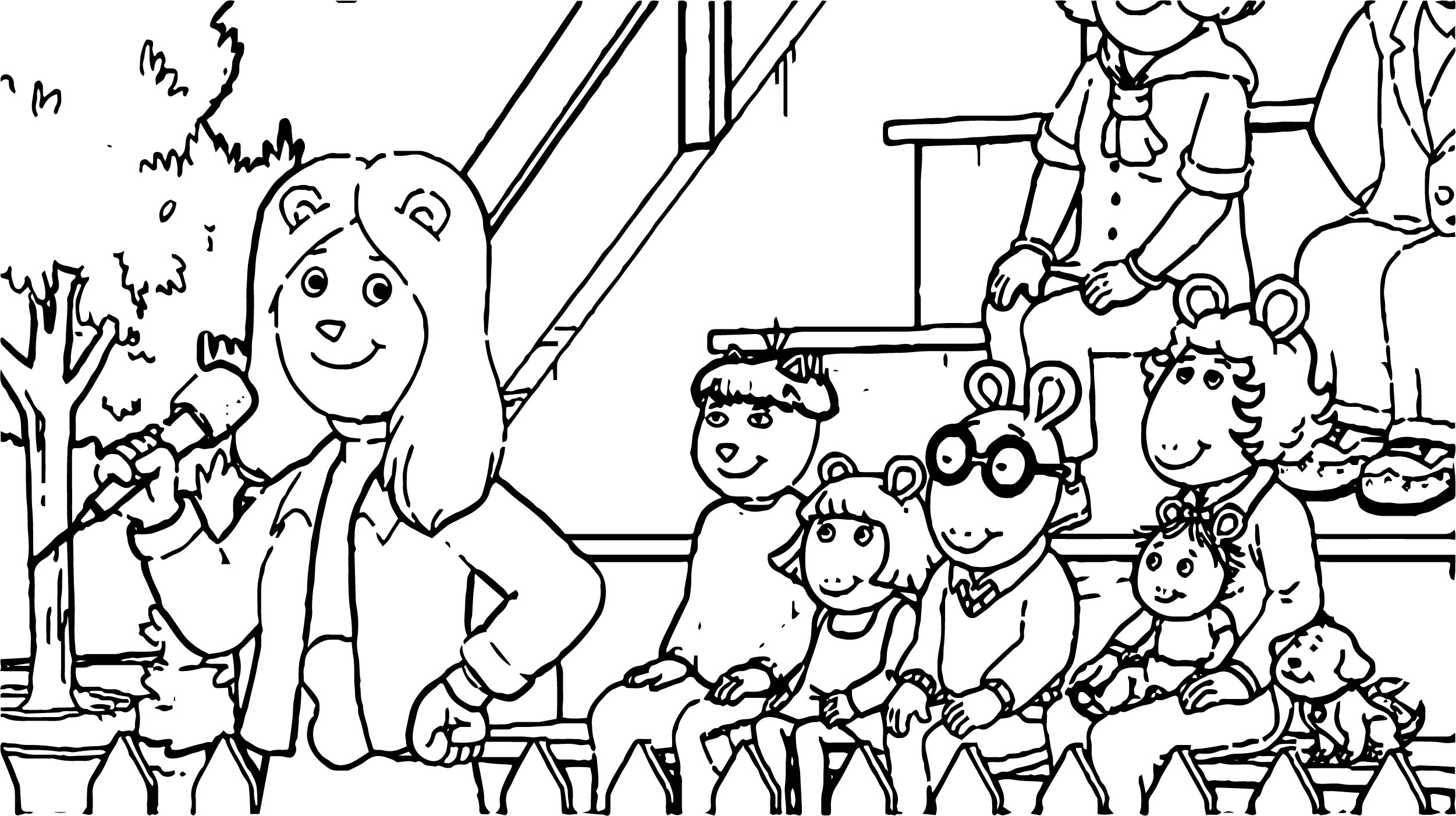 Arthur Song Coloring Page