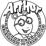 Arthur Ten Years Pbs Coloring Page