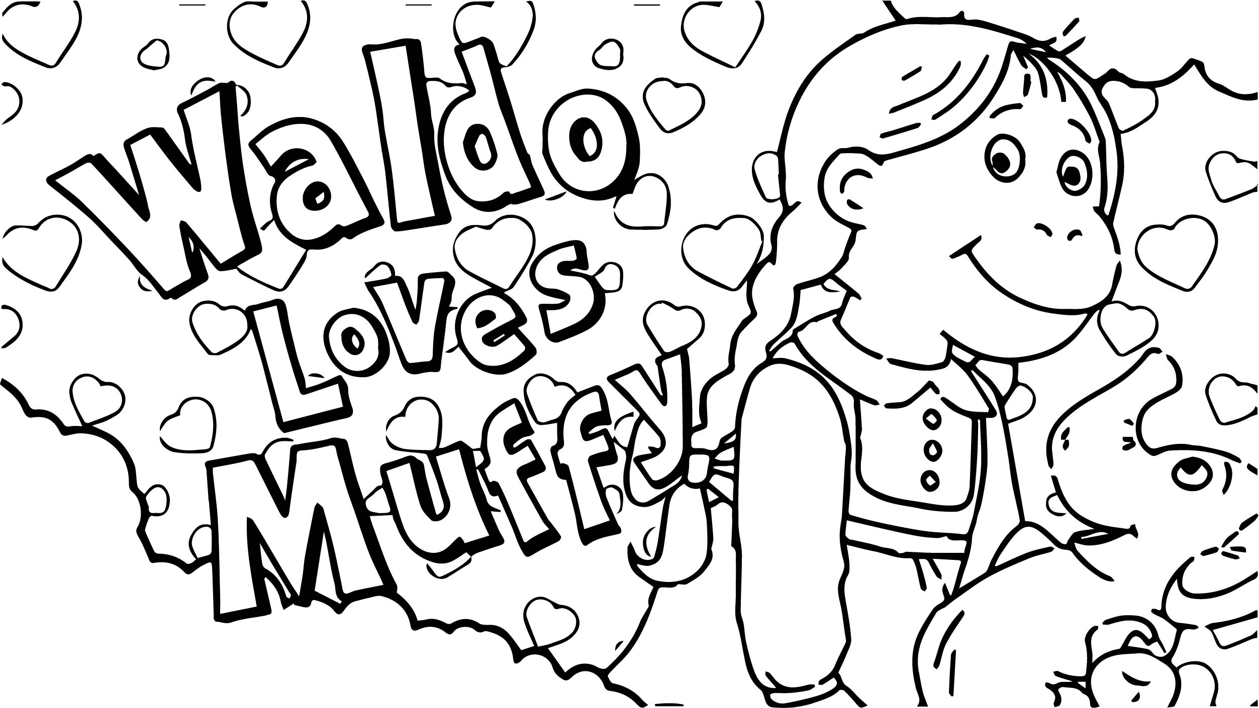 Arthur Waldo Loves Muffy Coloring Page
