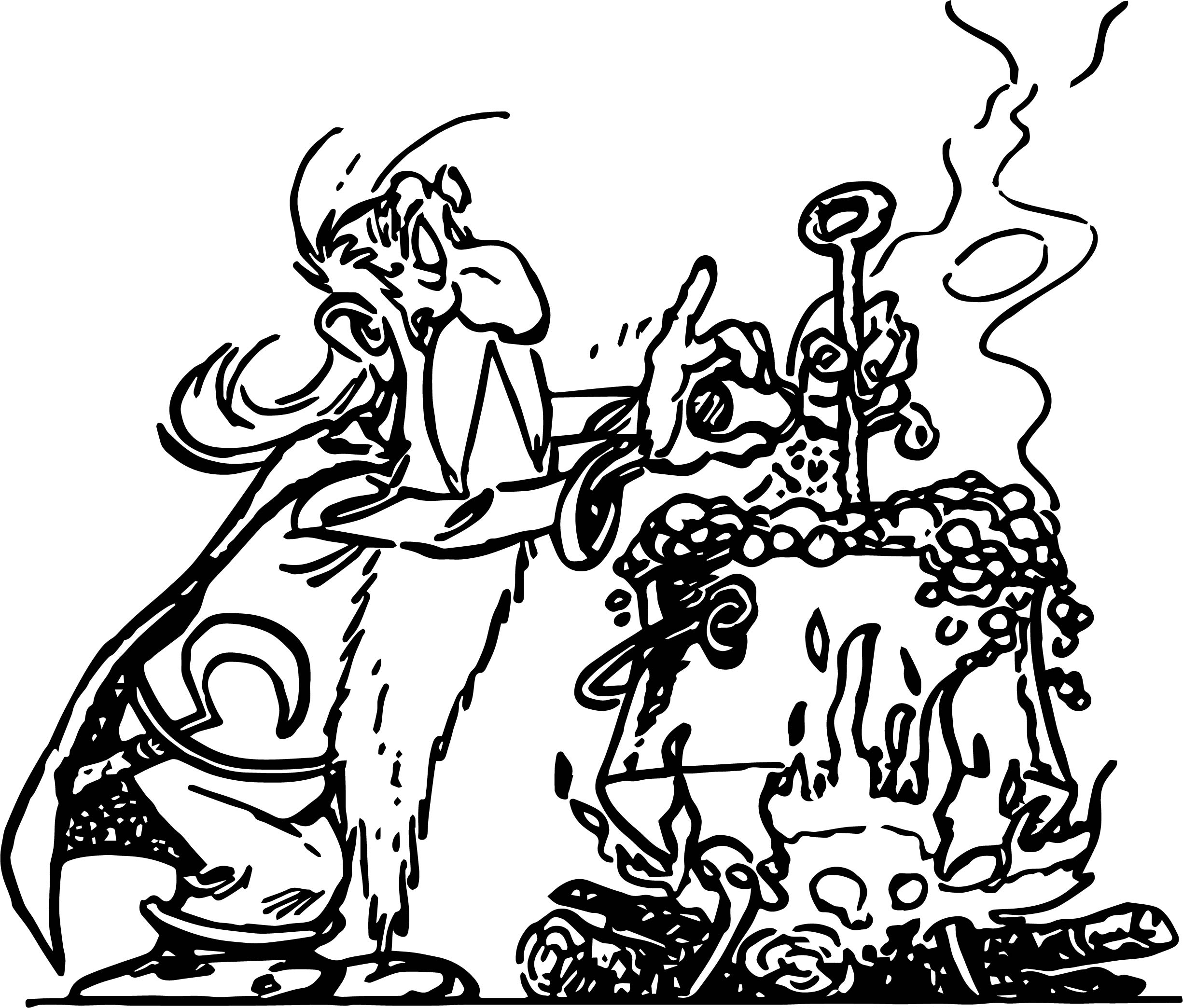 Asterix Druid Coloring Page