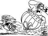 Asterix Escape Dog Coloring Page