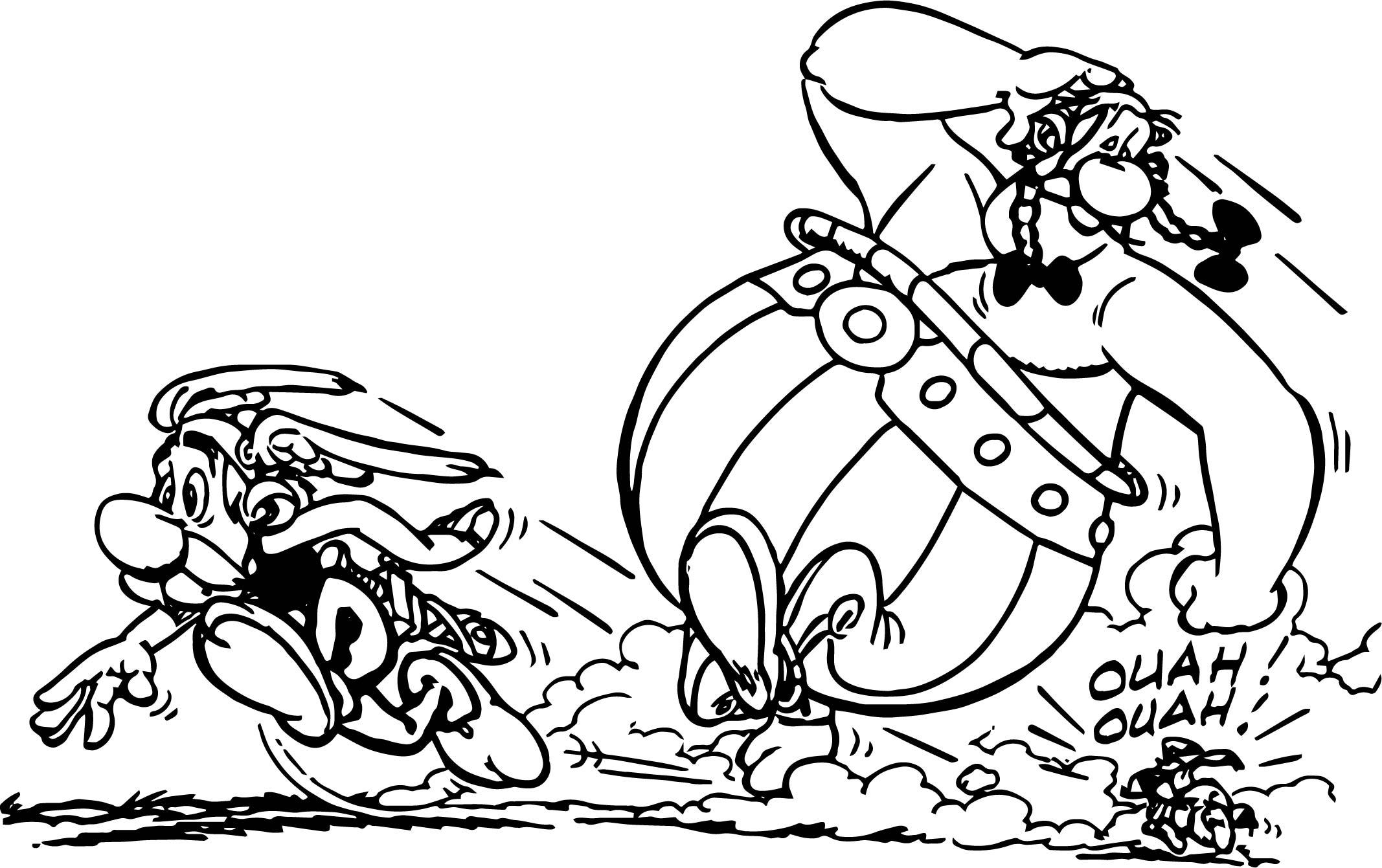 Asterix Escape Dog Coloring Page