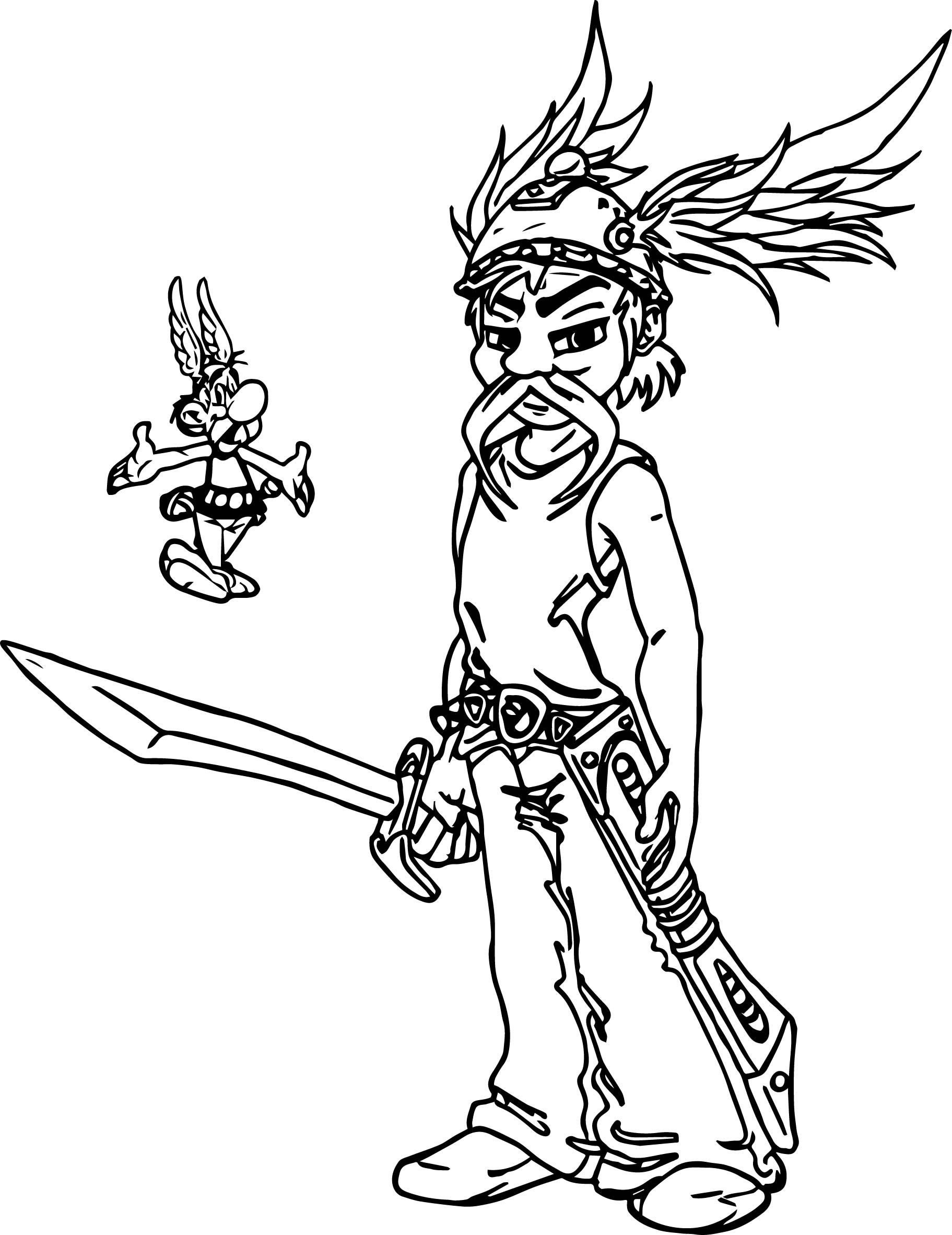 Asterix Evolution Coloring Page