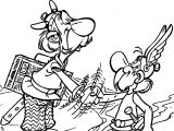Asterix News Coloring Page