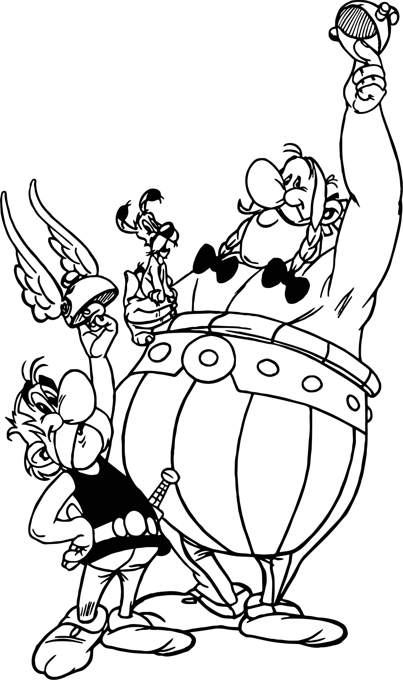 Asterix Obelix Dog Winner Coloring Page