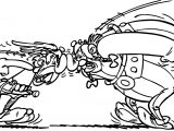 Asterix Obelix Streit Coloring Page